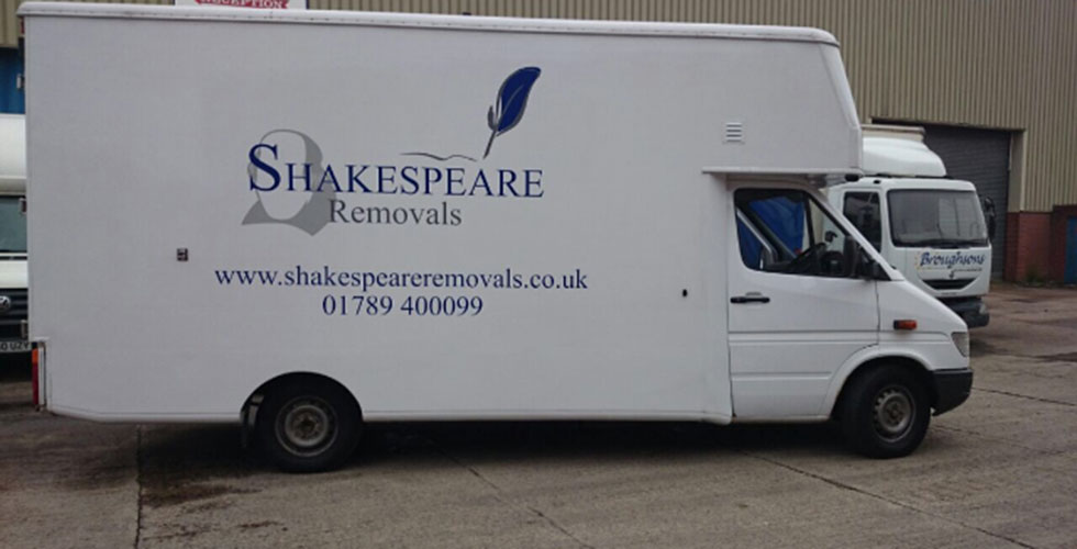 Shakespeare Removal truck outside our unit
